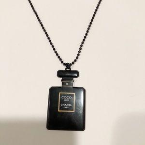 Black Coco Noir Perfume Bottle Motif Necklace